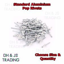Standard Aluminum Pop Rivets Metric Imperial Blind Large Flange 3.2 4.0 4.8 6.4