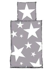 Ropa de cama gris con estrellas 135 x 200 cm 80 x 80 cm Microfibras