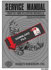 Harley Davidson 1989 Flt / Fxr Service Manual