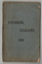 RARE Fitchburg Fusiliers 1816 MASSACHUSETTS Military REFERENCE Militia RULES