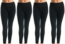 Lot of 4 Women Soft Cotton Spandex Yoga Sweat Lounge Gym Sports Pants Black XL