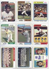 1974 Topps Baseball Card Set of 325 Different EX-EXMT Bonds, Bench, Jackson