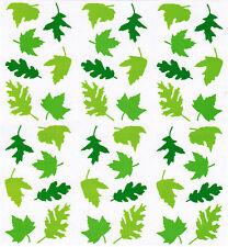 Mrs Grossman's Green Leaves Spring Scrapbook Stickers! 3 Strips Summer