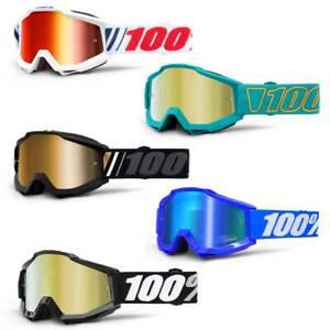 100% Accuri Goggle - Mirror Lens - Mountain Bike MTB Motocross MX Enduro