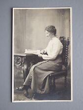 R&L Postcard: Edwardian Fashion Clothes, Portrait of Lady Reading