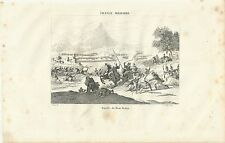 1838  BATTLE OF MOUNT TABOR  acquaforte Campaign in Syria Napoleone הַר תָּבוֹר