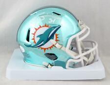 Ricky Williams Autographed Miami Dolphins Chrome Mini Helmet - JSA W Auth *White