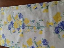 """Laura Ashley Table Runner Sweetpea 56"""" x 11"""". Fully lined Blue andYellow flowers"""