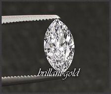 Diamant im Navette Schliff 0,47ct, + Zertifikat, Top Wesselton, unbehandelt