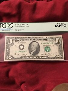 1974 $10 PCGS GEM NEW 65 PPQ Fr 2022