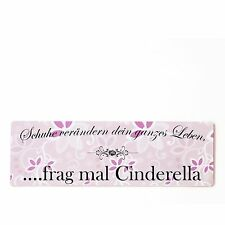 Buntes Shabby Chic Vintage Schild Hier wohnt ein Prinzessin Schuhe Dekoschild Tü