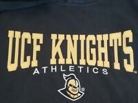 Men's Central Florida Black UCF Knights Athletics Hoodie Sweatshirt Size M EUC