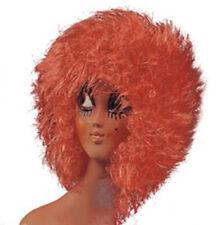 Perruque années 1980 disco ébouriffée orange fetes  theatre deguisement carnaval