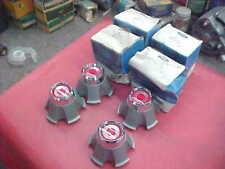 4 NOS D7OZ-1130-C SET 77 78 79 FORD MERCURY WHEEL CENTER CAP HUBCAP RED ORNAMENT