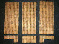 """346 Lot Lincoln Log Small Wooden Piece 1-1/2"""" Light Brown 1 Notch VG Knex Hasbro"""