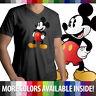 Classic Retro Original Disney Mickey Mouse Mens/Unisex Top Tee V-Neck T-Shirt