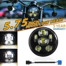 "5.75"" 5-3/4"" inch LED Headlight Black Sealed Projector Hi-Lo Beam for Motorcycle"