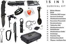 Premium Survival Kit - 15 in 1 - Outdoor-Ausrüstung - Notfall-Sets?