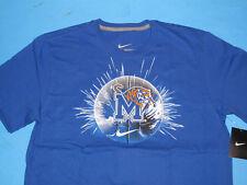 NWT Nike Memphis Basketball T-Shirt Men Size L Blue Regular Fit Tigers