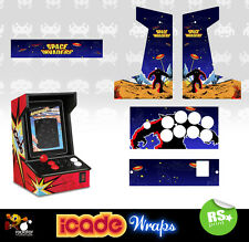Icade Space Invaders Full Set Arcade Artwork Graphics Sticker Sides Marquee