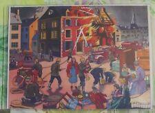Décoration Murale,Set de Table 42 x 30 cm 1950 les Soldats du Feu,Pompier casque