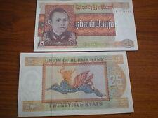 Burma - 25 kyat # 59 UNC.