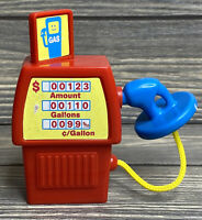 Gas Fuel Pump Plastic Red Blue Nozzle Toy Kids Cars Pretend Play