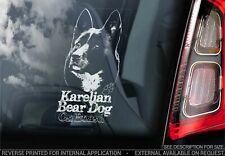 Karelian Bear Dog Car Sticker, Dog Window Bumper Sign Decal Gift Pet - V01