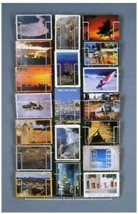Porta Cartoline 12x17 cm da Parete con 19 Tasche a Veduta Totale
