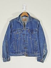 vintage Levis usa trucker jacket 42R indigo paint grease distressed type 3