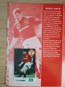 Manchester United Phone Card Collection 1996 Intercard Denis Irwin