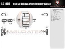 Fits Dodge Caravan 2001-2007 Basic Wood Dash Trim Kit
