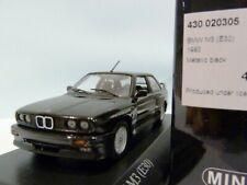 WOW EXTREMELY RARE BMW M3 E30 2.3L 16V 1987 Black met 1:43 Minichamps-635/M5/GTR