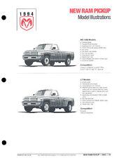 1994 Dodge Ram Pickup Truck Original Car Press Guide Brochure like