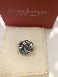 Beautiful Retired & HTF James Avery Sterling Silver Bold Lover's Knot Pendant