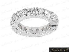3.00Ct Round Diamond Classic Wedding Eternity Ring 14k White Gold F VS2 Prong