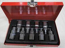 """Allen Key Socket Set 9pce 4, 5, 6, 7, 8, 9, 10, 12 14mm  1/2"""" Drive"""