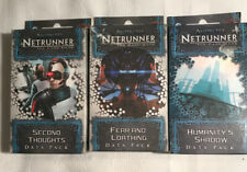 Android Netrunner Humanity's Shadow, Second Thought, Fear & Loathing Data Pack