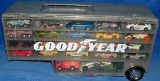 Mixed Lot 46 Hot Wheels Matchbox ect With Good Year Trailer Carry Case Car Truck