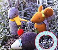 Pattern - Hilltop Fox Playset 2 - felt softie animals Pattern - May Blossom