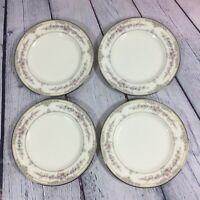 "4 Noritake Shenandoah 9729 Bread & Butter Plates Bone China Japan - 6.5"" / Set"
