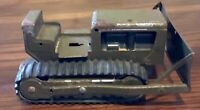 Vintage 1960's Army Green Pressed Steel Tonka Military Bulldozer