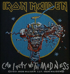 Iron Maiden - Can I Play With Madness Patch Aufnäher NEU ca. 9,8x 10cm