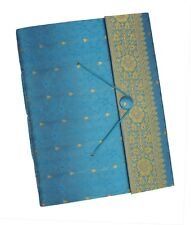 New Paper High Dry Mount Turquoise or Blue Sari Photo Album Cream Pages