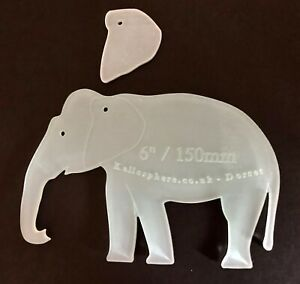 Traditional elephant acrylic sewing/craft template