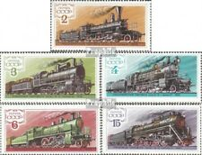 Sovjet-Unie 4821-4825 gestempeld 1979 Stoomlocomotieven