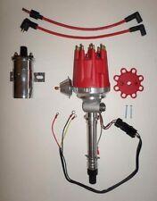 Small Cap CHEVY CORVETTE 1962-74 Tach Drive RED HEI Distributor +Chrome 45K Coil