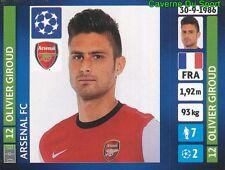 410 OLIVIER GIROUD FRANCE ARSENAL FC STICKER CHAMPIONS LEAGUE 2014 PANINI