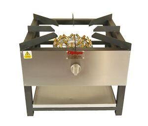 COMMERCIAL STOCKPOT COOKER/STOVE 32 JET BURNER 600 x 600 NATURAL OR BOTTLE GAS