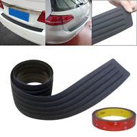 Auto Car Rear Bumper Sill Protector Plate Rubber Cover Guard Pad Moulding Trim